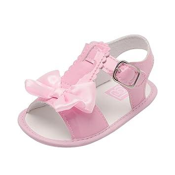 Sandalias de Bebé ❤ Amlaiworld Verano Infantil Bebé Niña Bowknot Cuna Zapatos Zapatos únicos antideslizantes