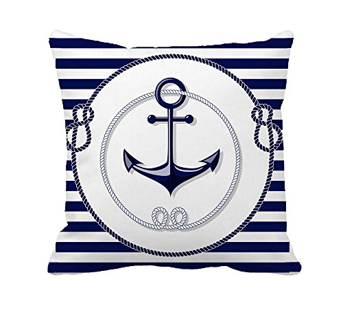 Stripe Nautical Anchor Decorative Polyester product image