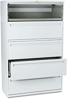 product image for HON 795LQ 700 Series 42-Inch 5-Drawer Lateral File withroll-Out and Posting Shelves, Light Gray