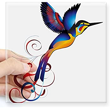Amazoncom Pretty Watercolor Hipster Spring Paint Art Vinyl Decal - Window alert hummingbird decals amazon