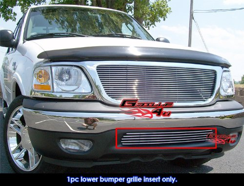 APS Compatible with 1999-2003 Ford F-150 2WD Bumper Billet Grille Insert #S18-A48058F