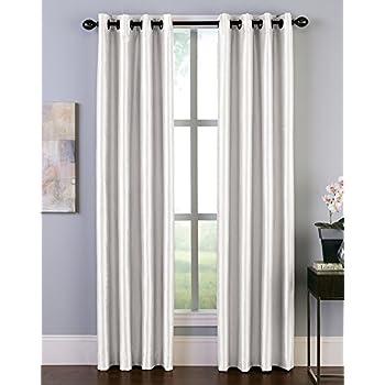 Amazon Com Malta Faux Silk Room Darkening Grommet Curtain