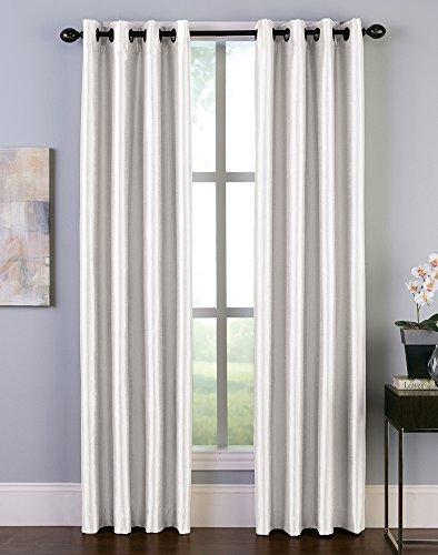 (Malta Faux Silk Room Darkening Grommet Curtain Panel)