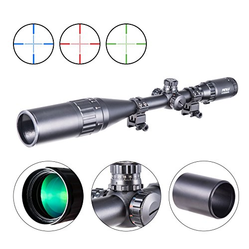 Pinty 6 24X50 Aol Red Green Blue Illuminated Mil Dot Scope With Sunshade Tube   Flip Open Covers