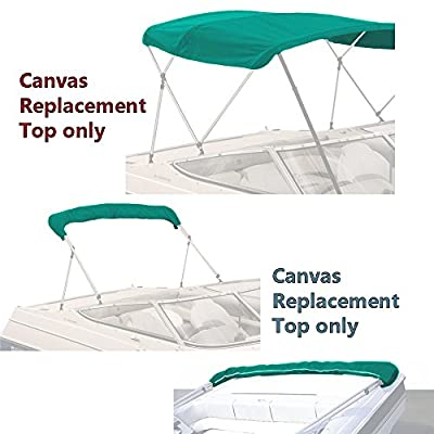 "Bimini Top Boat Cover Canvas Fabric Teal 3 Bow 72""l 54""h 79""-84""w"