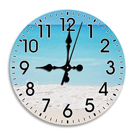 Lovely Quiet Long Lasting Nice Round Wall Clock Frameless Time Arabic Numbers  Diameter (Clear, 9.8