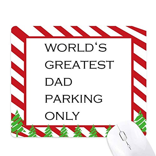 World's Greatest Dad Father's Festival Quote Mouse Pad Candy Cane Rubber Pad Christmas Mat