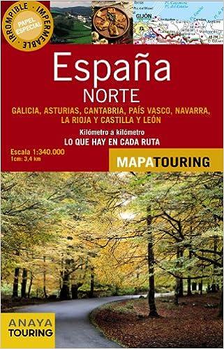 Mapa De Carreteras, 1:340.000. Norte De España Desplegable Mapa ...