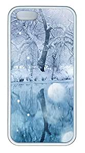 iPhone 5 5S Case Timely Snow TPU Custom iPhone 5 5S Case Cover White