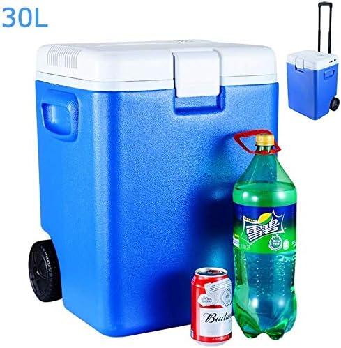ZWH-ZWH 旅行キャンプピクニックのためのHOUGE熱電冷却器のキャンプ冷蔵庫12V(30L)カークーラー車の冷蔵庫の青 車載用冷蔵庫