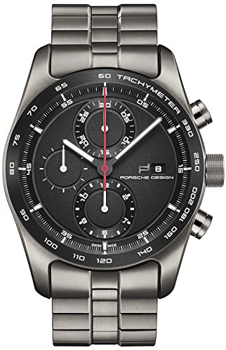 Porsche Design Chronotimer Series 1 Automatic Watch, Polished titanium,Black