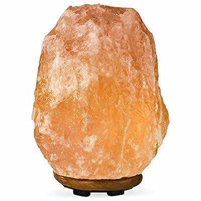 Sol Wellness Himalayan Salt Lamp Natural Pink Salt Glow Light with Bulb and Adjustable Dimmer
