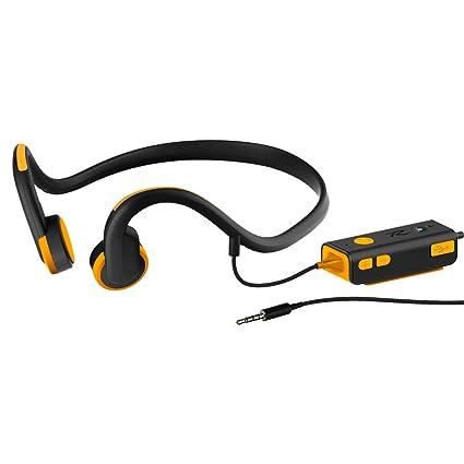 Four Auriculares De Conducción Ósea con Cable Auriculares Bluetooth con Micrófono De Alta Definición Y Cinta