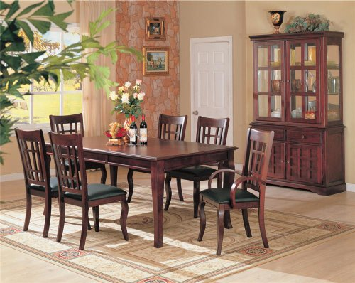 Coaster Newhouse Formal Dining Room Set with Dining Table and 6 x Dining Chair