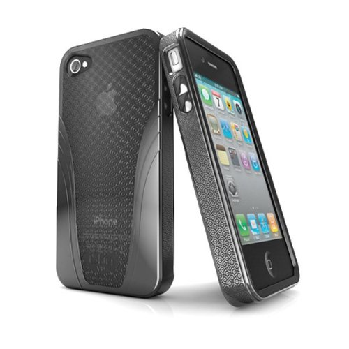 iSkin Solo Vu Case for iPhone 4S - Retail Packaging - Black ()