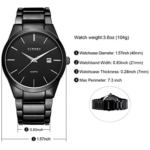 VOEONS Men's Classical Simple Wrist Watches with Date Display