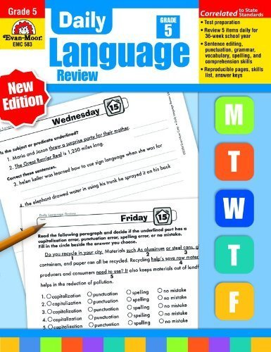 Daily Language Review, Grade 5 by Evan Moor (2015-01-01)