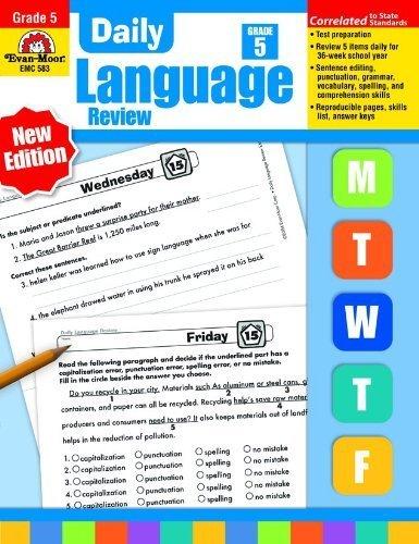 Daily Language Review, Grade 5 by Evan Moor (2015-01-01) (Evan Moor Daily Language Review)