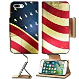 Luxlady Premium Apple iPhone 7 Plus Flip Pu Leather Wallet Case IMAGE 35214947 Retro vector background with usa flag and grunge effect