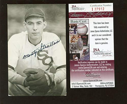 Monty Stratton Baseball Player Autographed Vintage Photo Postcard JSA Cert - MLB Cut Signatures from Sports Memorabilia