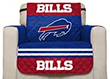 NFL Buffalo Bills Chair Reversible Furniture Protector with Elastic Straps, 75-inches by 65-inches