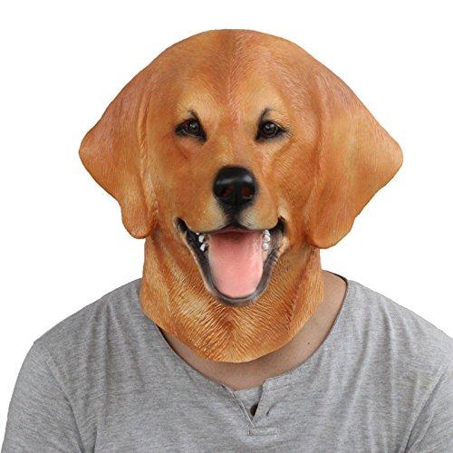 PartyCostume Latex Labrador Dog Mask