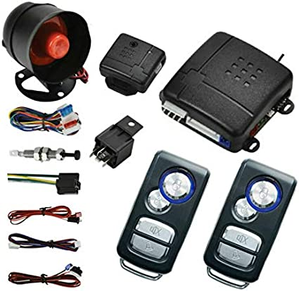 Style 11 Car Central Lock Universal Auto Remote Central Kit Vehicle Door Lock with Shock Sensor Contorl Box 2 Replacement Remote Contorl for Car Central Door Lock