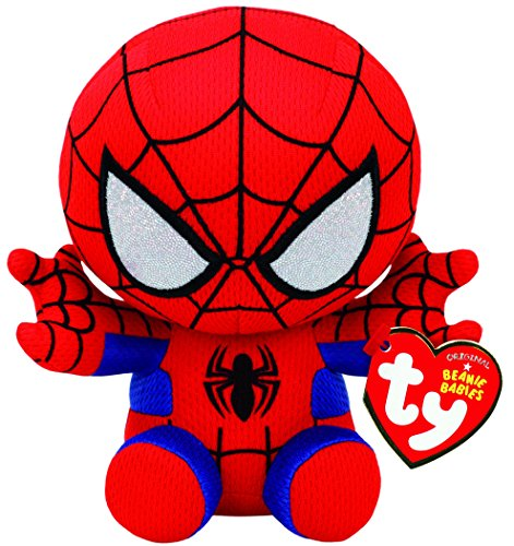 Ty Spiderman Plush, Red/blue, - Baby Toy Beanie Plush