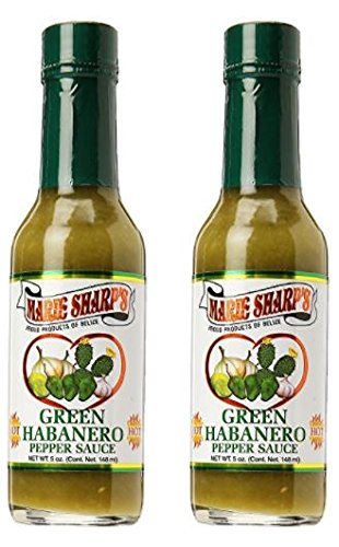 Marie Sharps Green Habanero Pepper Sauce 5 oz (Pack of 2)