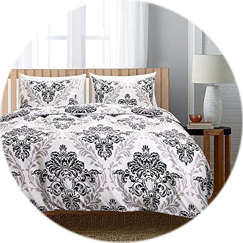 Memoirs- Print Floral Bedding Set Bed Linen Duvet Cover Kids Adult Brief Style Princess Home Textile Bedclothes Bedspread,Baroque,King (264cmX228cm) ()