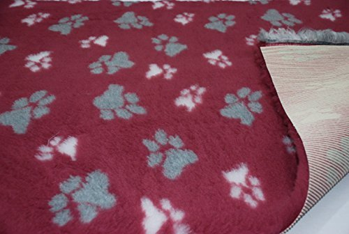10 mtrs 1000cm x 150cm Professional Non Slip Veterinary Dog Bedding LG Paws Claret