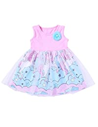 Genenic Baby Girls Sleeveless Tulle Dress Infant Birthday Party Dress