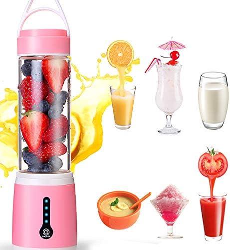 1 unid fruta jugo taza mini licuadoras portátiles mano máquina exprimidor 6 potentes cuchillas para el hogar oficina deportes viajes