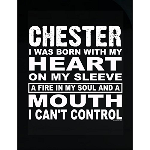 Prints Express Chester. Born with Heart On Sleeve and Fire in Soul - Sticker