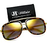 JHfair Square Aviator Fashion Mens Womens Sunglasses Brand Designer