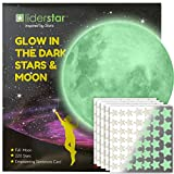 Glow in The Dark Stars and Free Removable Full Moon Wall Stickers 220