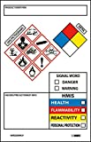 NMC GHS2265ALV GHS Secondary Container Label