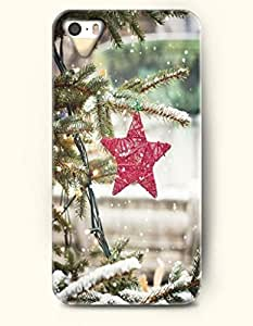 OOFIT iPhone 5 5s Case - A Red Star In Snow