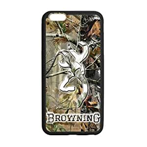 Canting_Good Browning Cutter Logo Real Tree Custom Case Shell Skin for iPhone6 Plus 5.5 (Laser Technology)