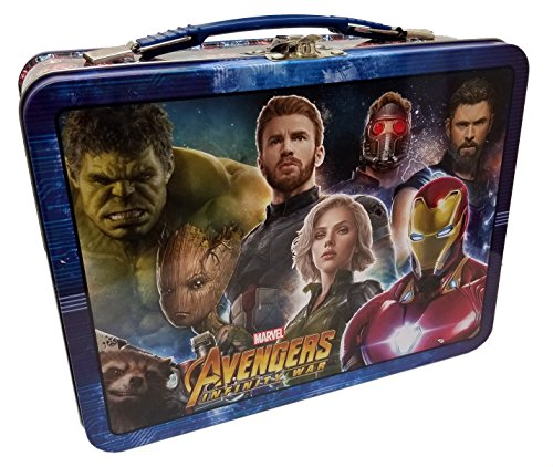 The Tin Box Company Avengers Infinity War Tin Lunch Box, Blue