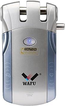 Opinión sobre WAFU WF-010U Cerradura Inalámbrica Inteligente Cerradura Invisible Cerradura Control Remoto Desbloqueo de iOS Android APP con 4 Control Remotos, Azul + Plata