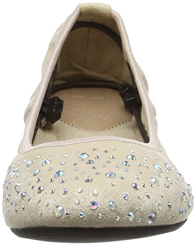 Punta Mujer para con Nude Butterfly Twists Bailarinas Cerrada Christina Beige OqCSv