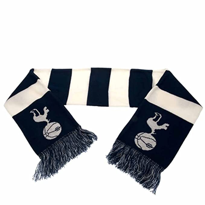 655195e29a4 Tottenham Hotspur Spurs FC Football Club White Blue Striped Scarf Badge  Crest  Amazon.co.uk  Kitchen   Home