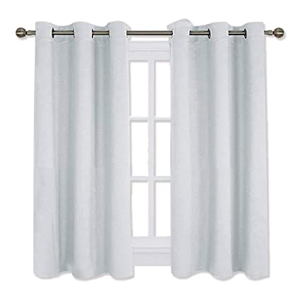 NICETOWN Room Darkening Curtain Panels For Bedroom Easy Care Solid Thermal Insulated Grommet