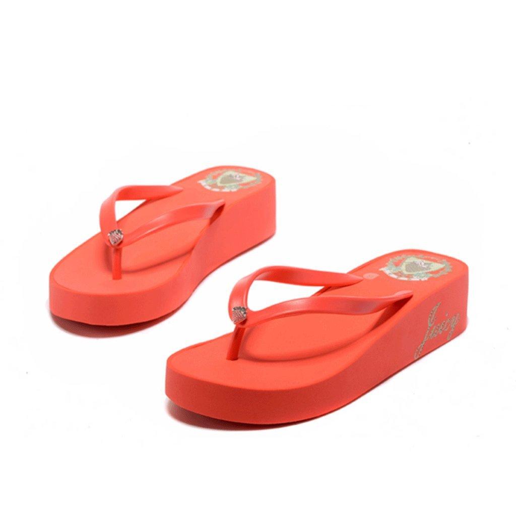 Zapatillas Mujer Verano Moda Versión De Las Sandalias Ocio De Gasa Gruesa (Tamaño : 36-240mm) 36-240mm