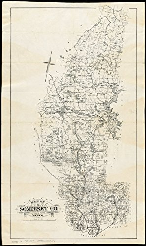 - Historic Map | ca. 1895 Map of Somerset Co., Maine | Antique Vintage Reproduction