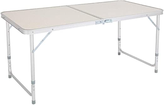 Portable Indoor Outdoor Aluminum Folding Table 4/' Picnic Party Camping US seller