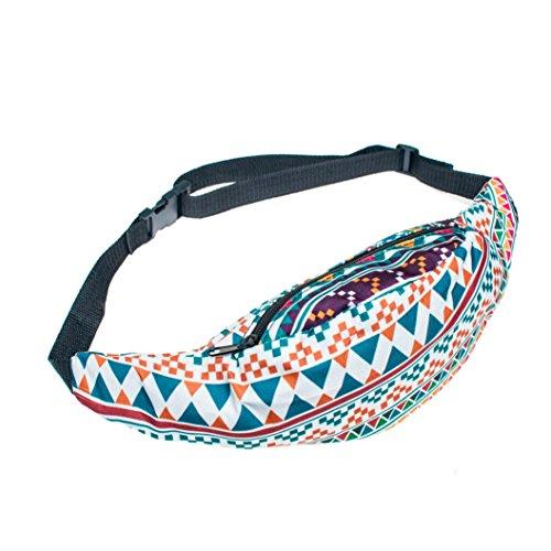 Waist Bag Polyester Closure Belt Black for Men Women - 6