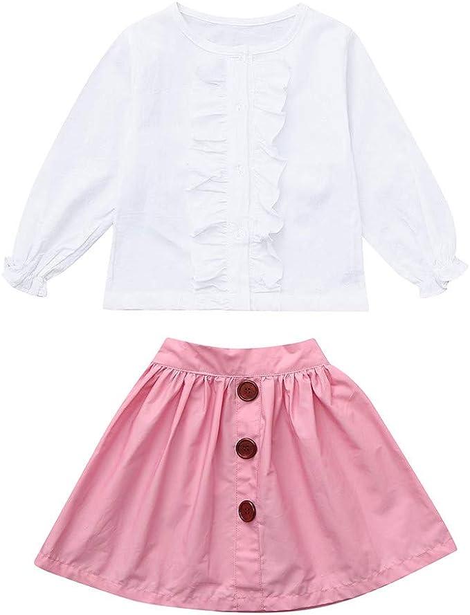 ASHOP Vestidos niña/ Tops de Manga Larga + Falda/Falda Tutu/en ...