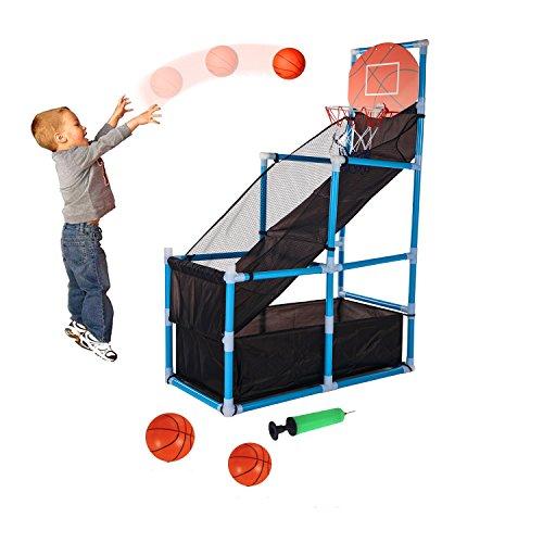 Tuko Kids Basketball Arcade Game - Indoor Basketball Hoop Shooting Training System with Basketball for Kids